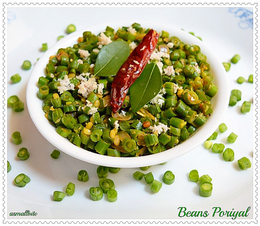 Beans Poriyal Recipe 1