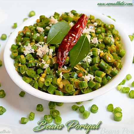 Beans Poriyal Recipe