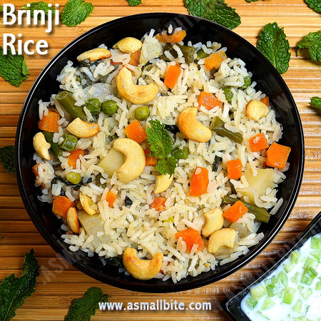 Brinji Rice Recipe | Bay Leaf Pulao | Vegetable Brinji Sadham