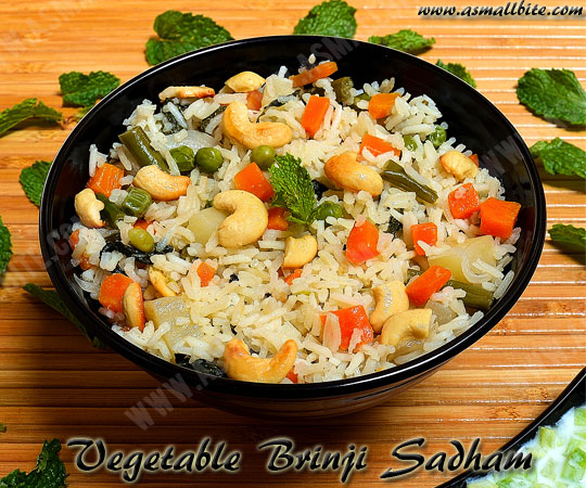 Vegetable Brinji Sadham