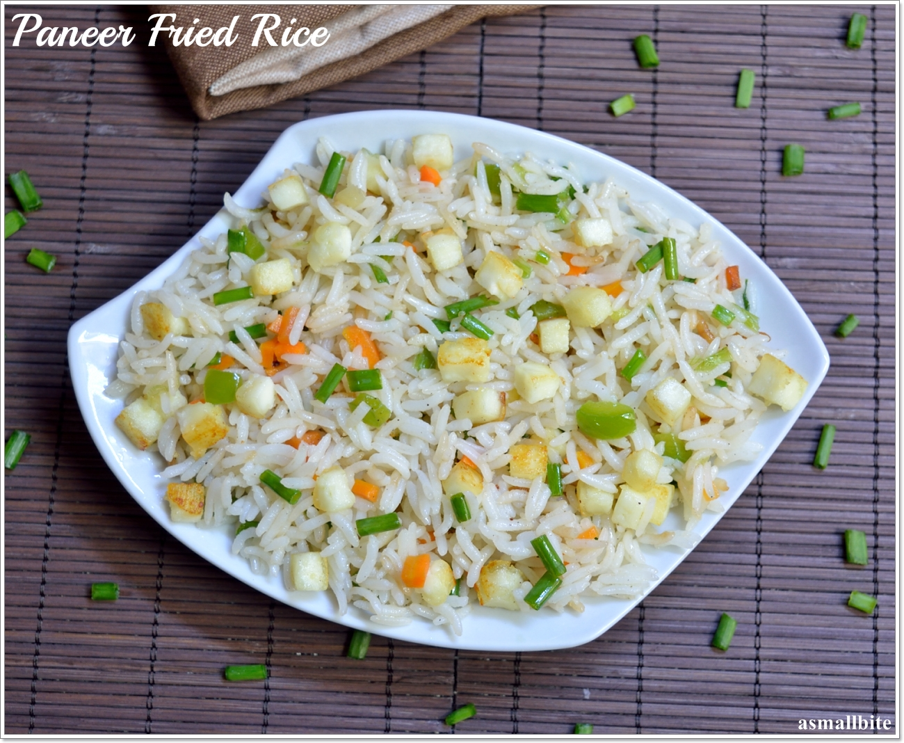 Paneer Fried Rice Recipe| Easy Paneer Recipe