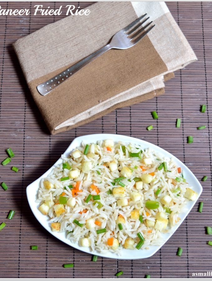 Paneer Fried Rice Recipe | Easy Paneer Recipe