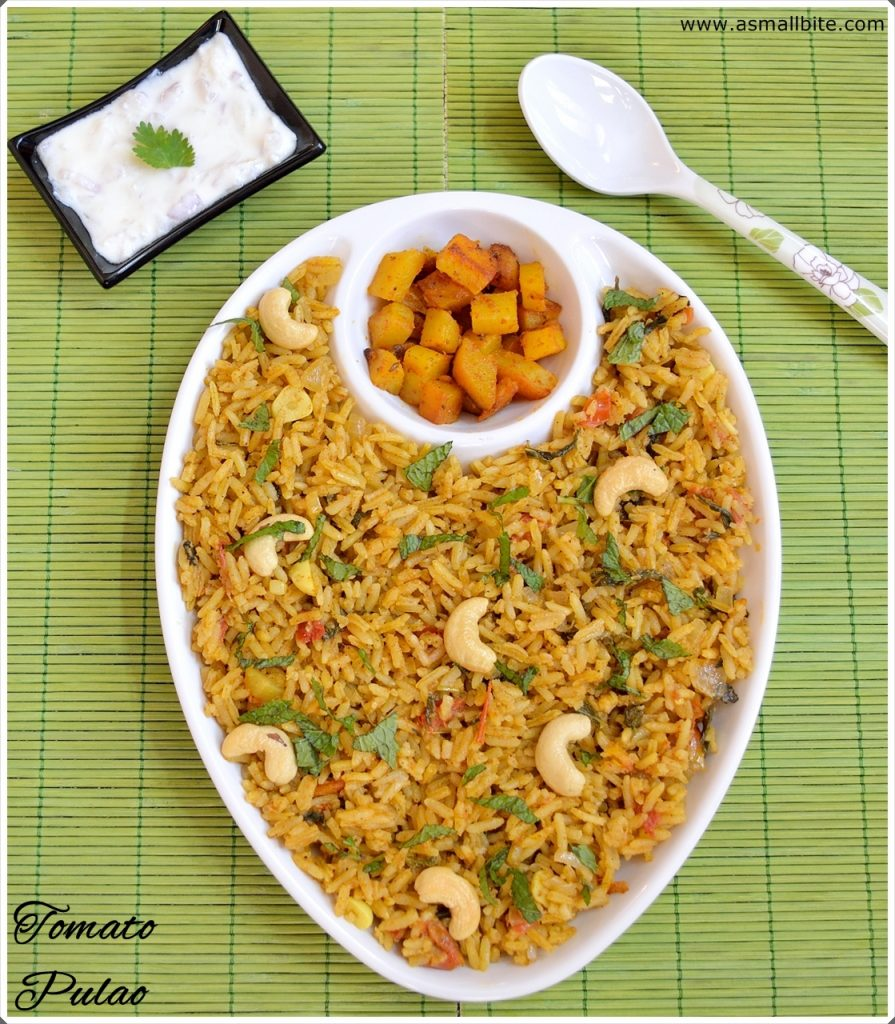 Tomato Pulao with Mint Leaves