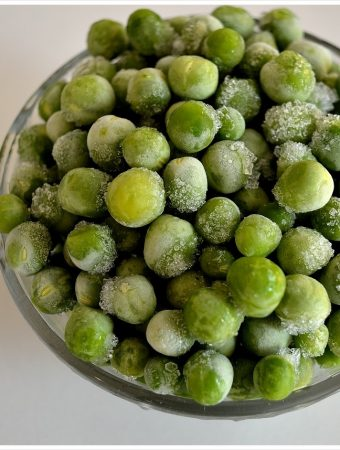 Homemade Frozen Peas