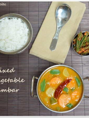 Mixed Vegetable Sambar Recipe / Easy Kadhamba Sambar