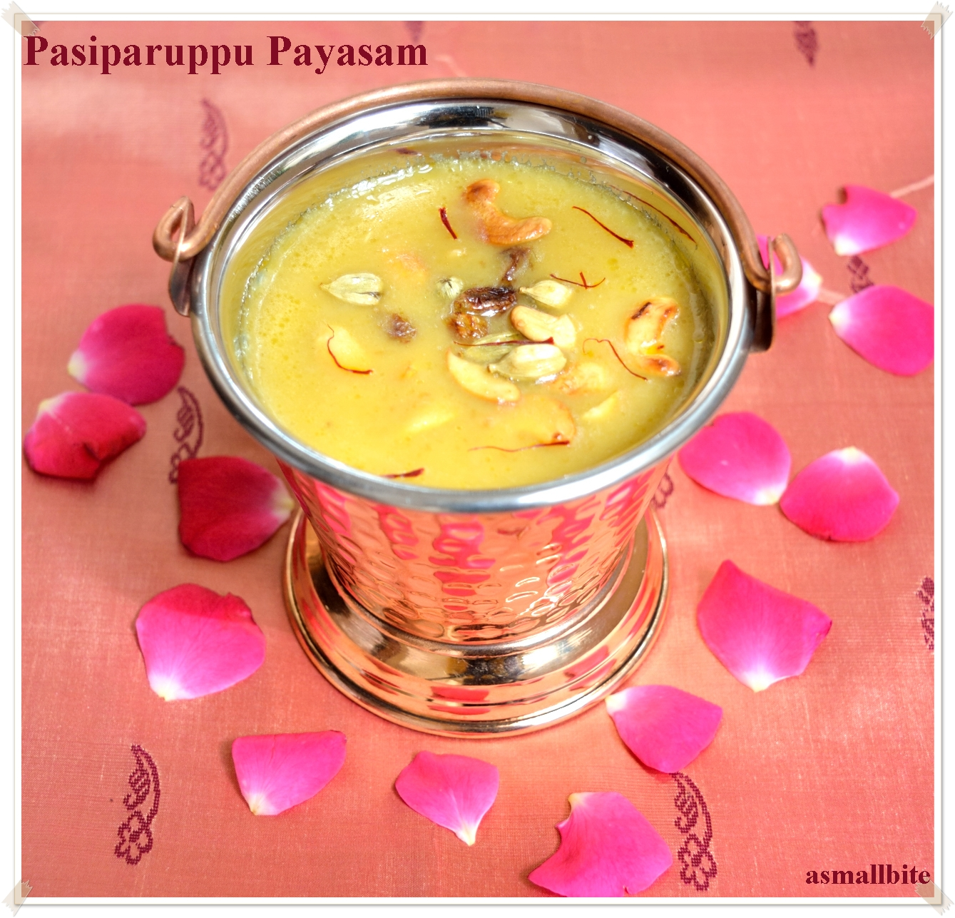 Pasiparuppu Payasam | Moong Dal Payasam (with coconut milk)