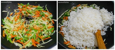 Vegetable Fried Rice Step5