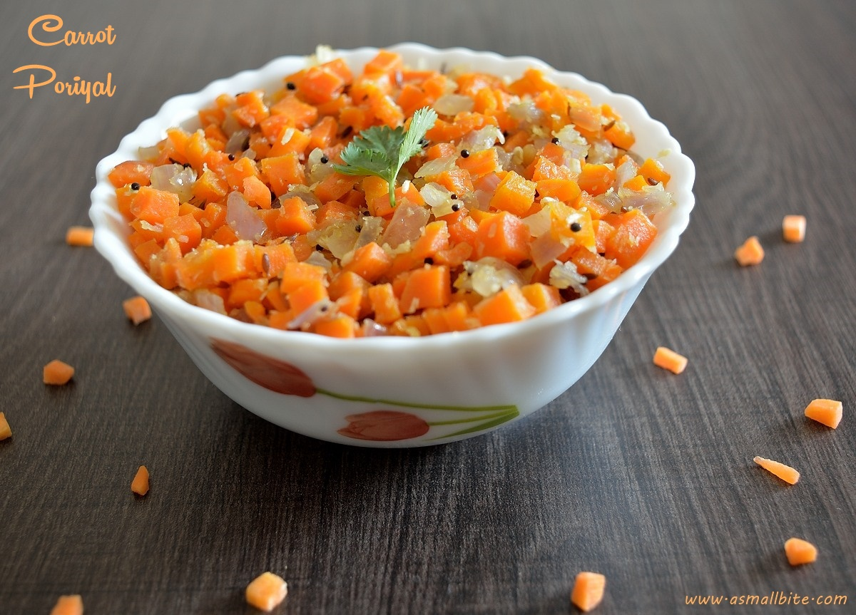 Carrot Poriyal | Carrot Stir Fry Recipe