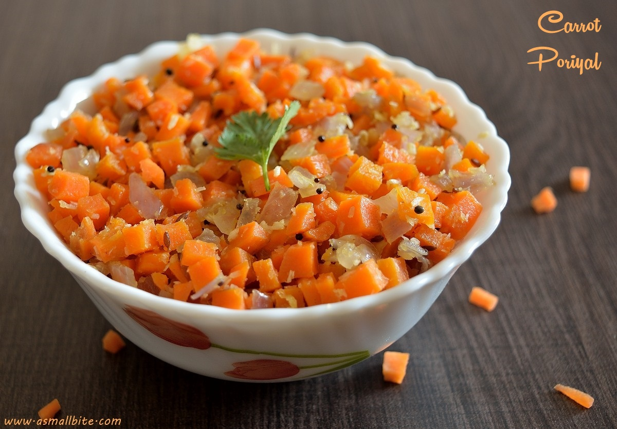 Carrot Poriyal 2