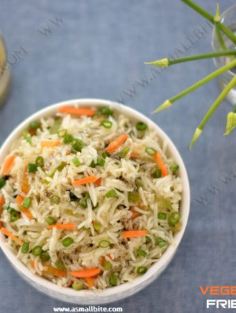 Vegetable Fried Rice | Chinese Veg Fried Rice