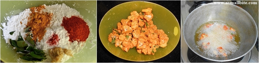 Gobi Pakoras Recipe Step2