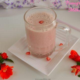 Pomegranate Milkshake 2
