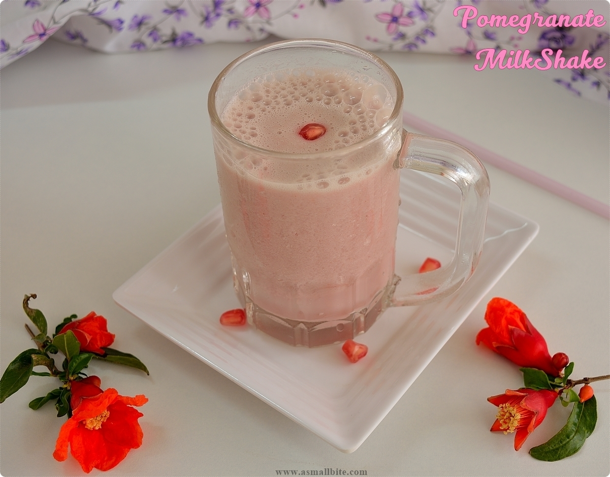 Pomegranate Milkshake 2