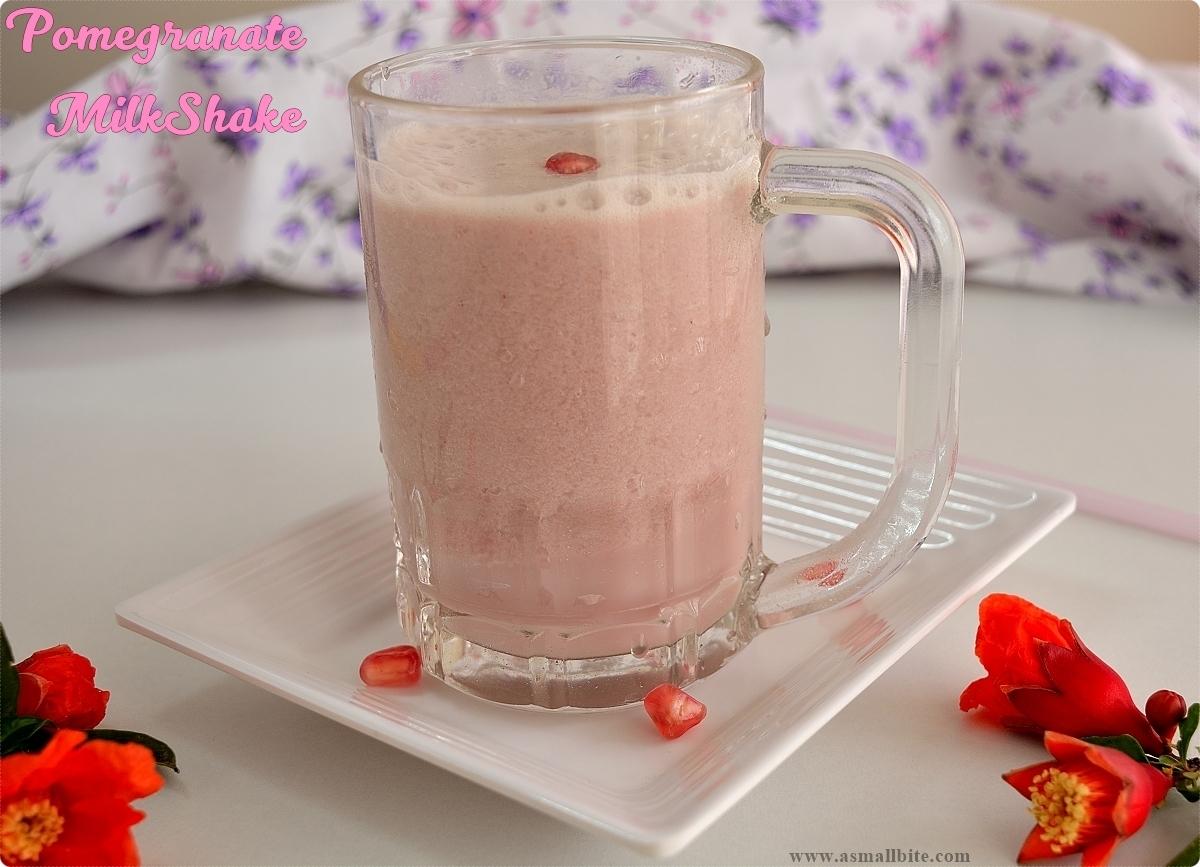 Pomegranate Milkshake | Making Pomegranate Milkshake at home