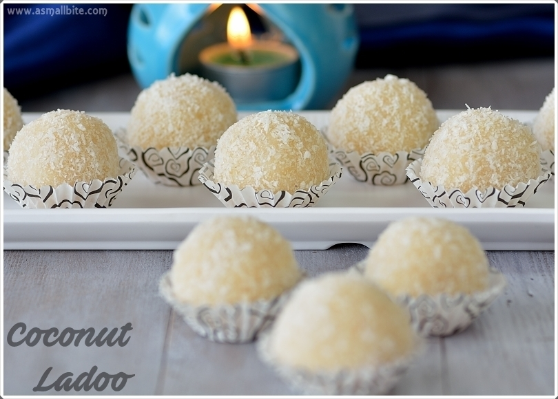 Coconut Ladoo Recipe (with condensed milk) | Coconut Laddu