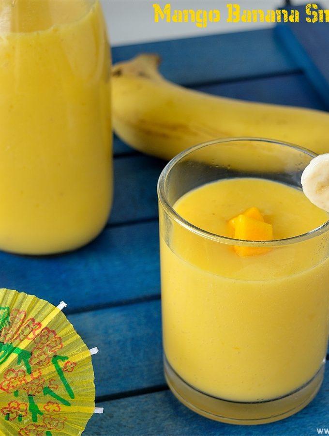 Mango Banana Smoothie Recipe | Banana Mango Smoothie