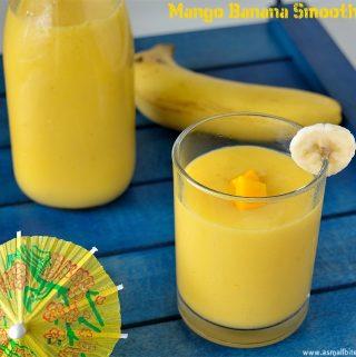 Mango Banana Smoothie 1