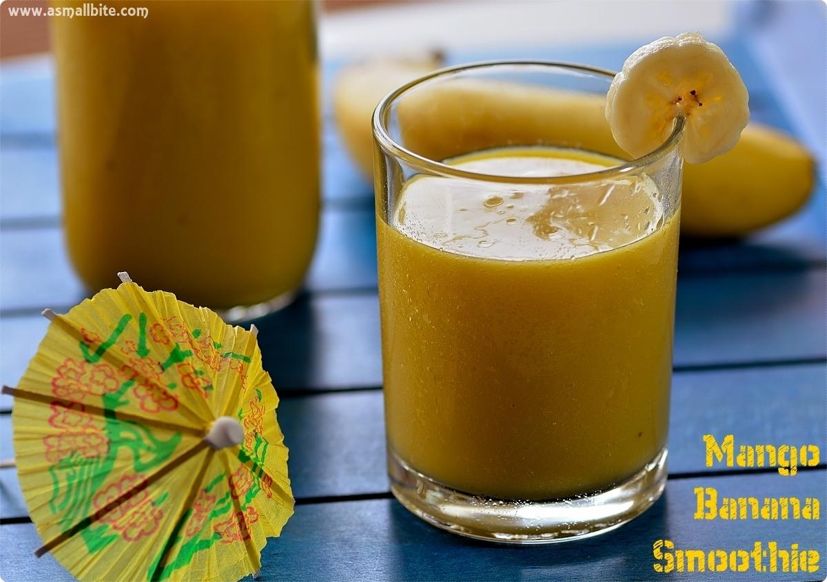 Banana Mango Smoothie 2