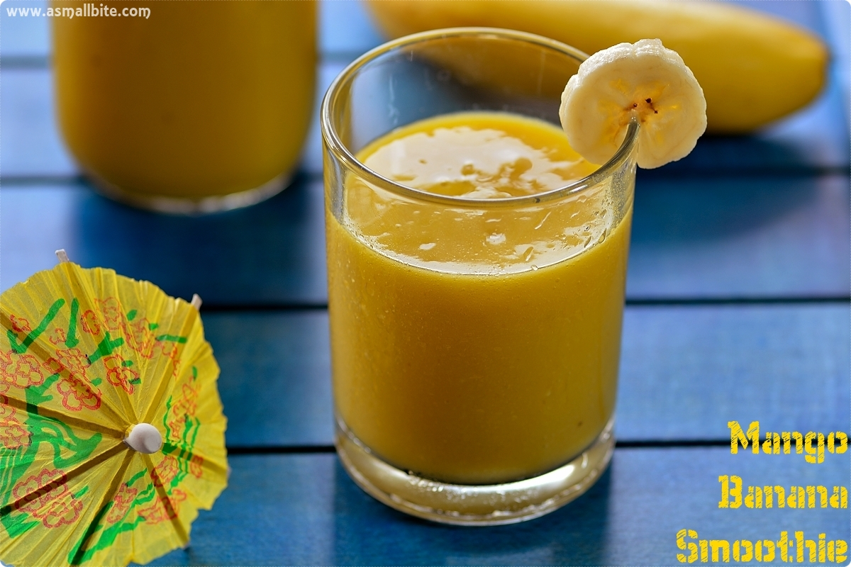 Banana Mango Smoothie 3