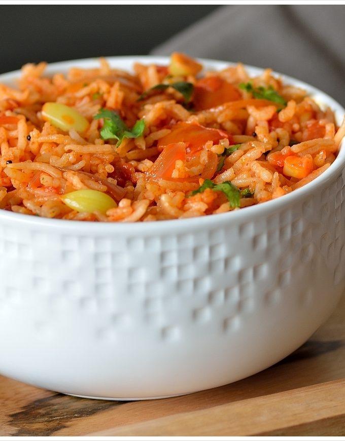Tomato Rice Recipe   Thakkali Sadam Recipe