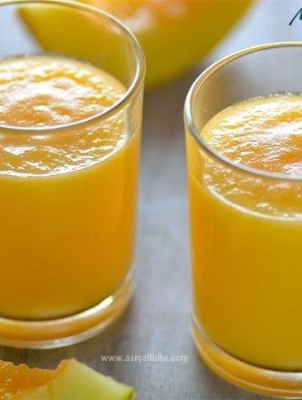 Muskmelon Juice | Cantaloupe Juice Recipe | Asmallbite