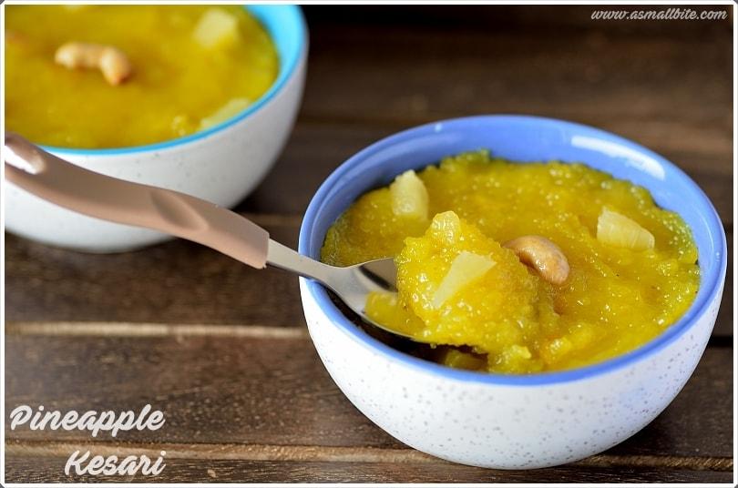 Pineapple Kesari Recipe 3