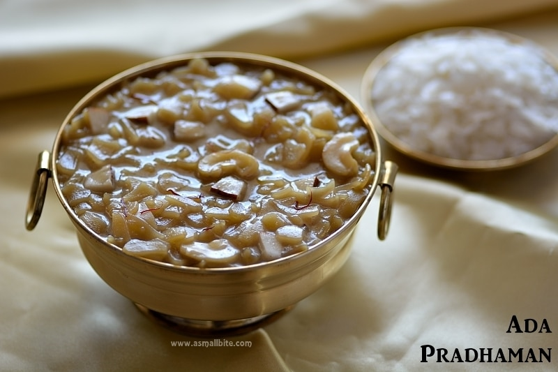 Ada Pradhaman Recipe | Kerala Ada Payasam | Onam Recipes
