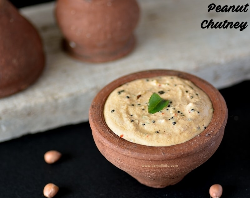 Peanut chutney-Kadalai Chutney