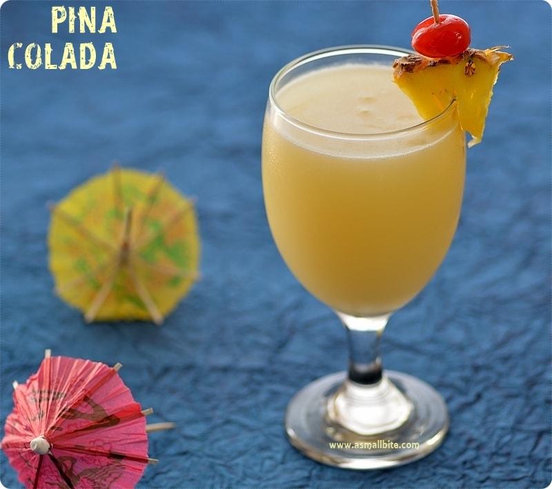 Pina Colada Recipe | Virgin Pina Colada | Asmallbite