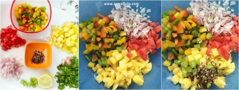 pineapple salsa Recipe step1