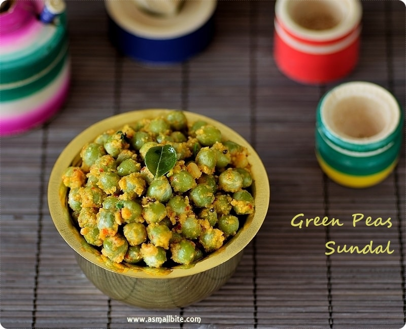 Green Peas Sundal Recipe