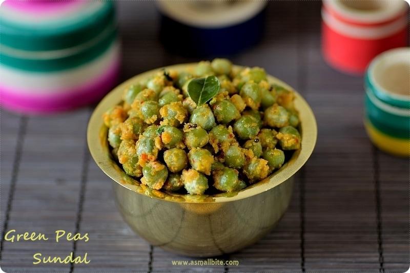 Pachai Pattani Sundal | Green Peas Sundal Recipe | Navaratri Recipes