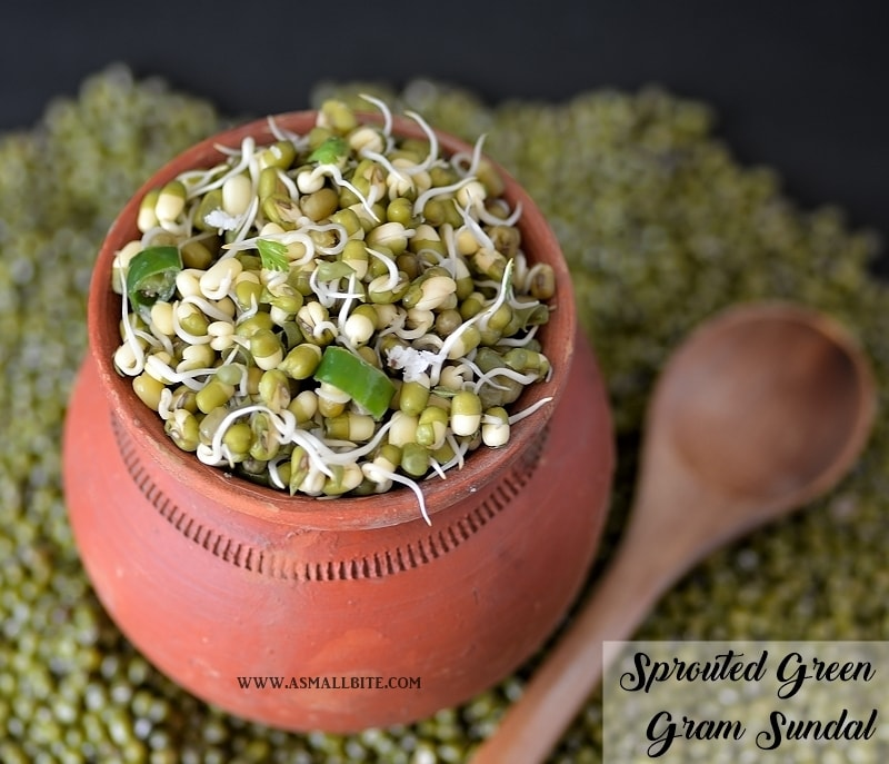 Sprouted Green Gram Sundal 1