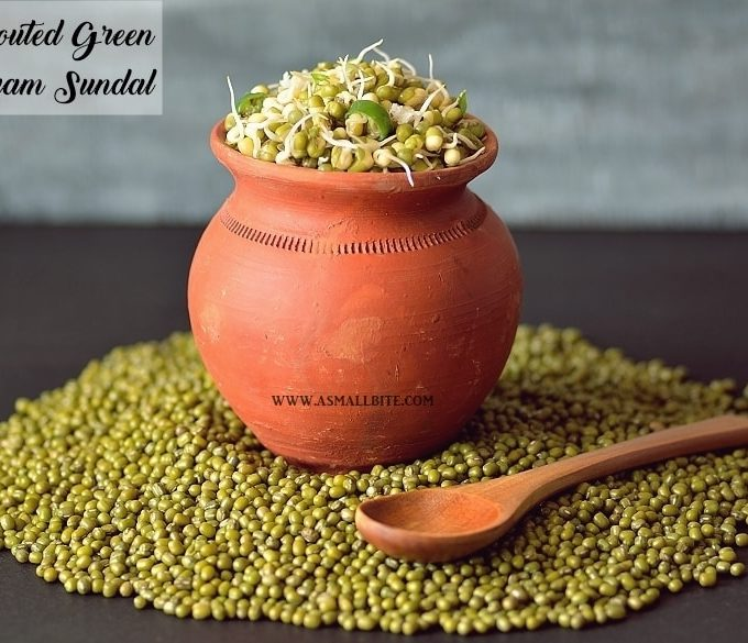 Sprouted Green Gram Sundal | Sprouted Moong Sundal | Navratri Recipe