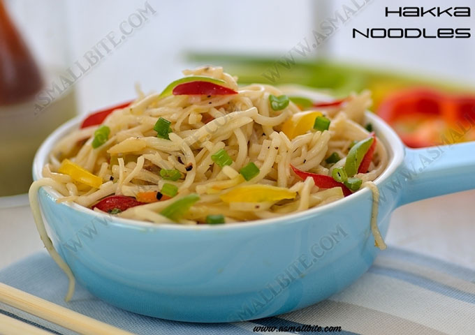 Vegetable Hakka Noodles Recipe 1