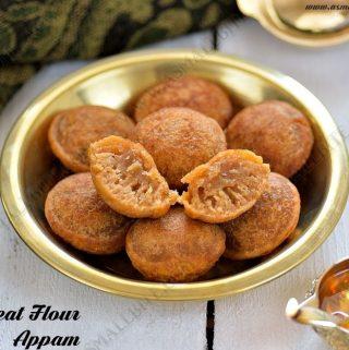 Wheat Flour Appam Recipe