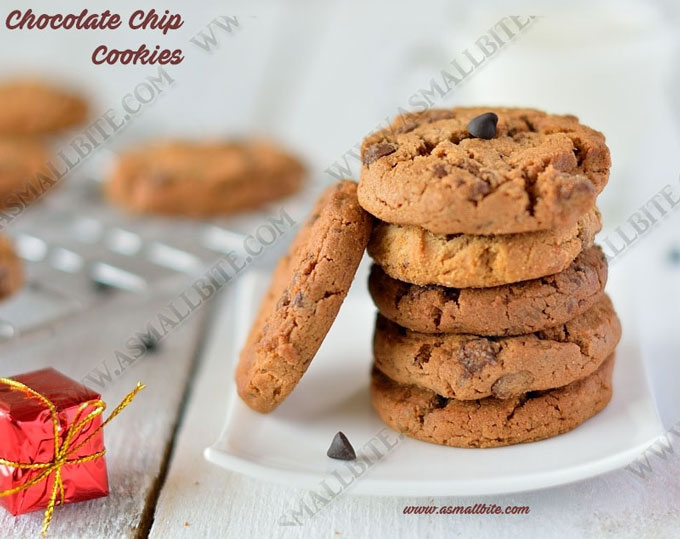 Eggless Chocolate Chip Cookies 1