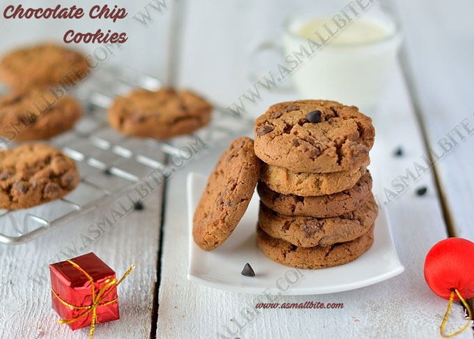 Eggless Chocolate Chip Cookies 2