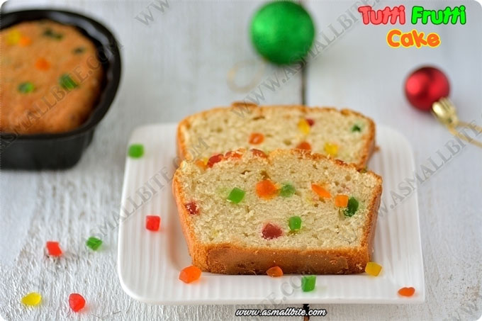 Eggless Tutti Frutti Cake Recipe 1