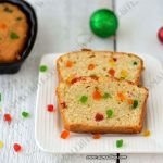 Eggless Tutti Frutti Cake Recipe | Vanilla Sponge Cake