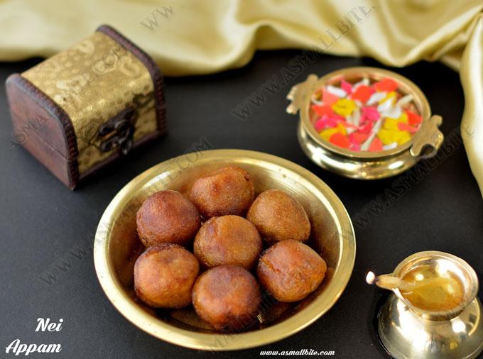 Nei Appam Recipe (Ghee Appam) | Karthigai Appam