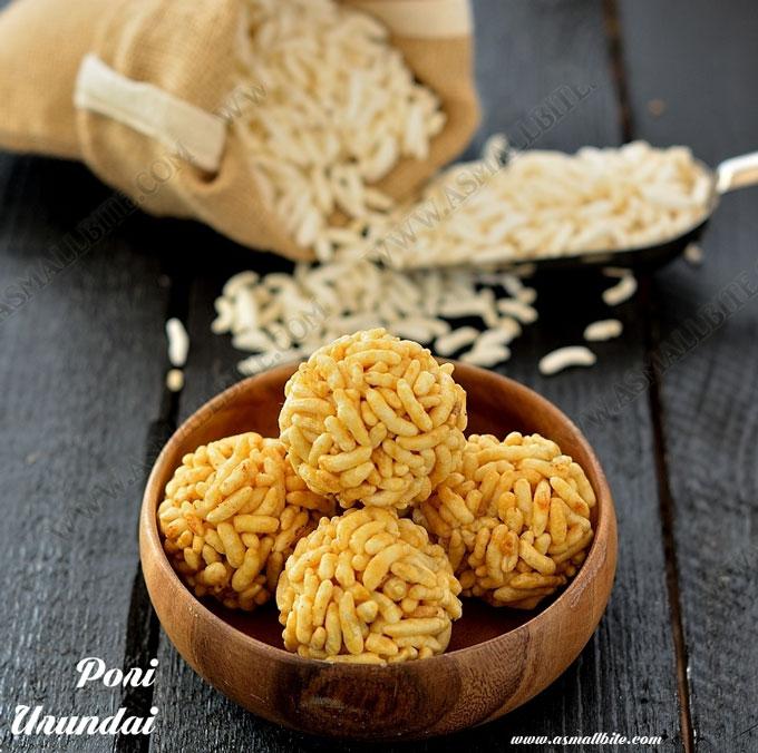 Puffed Rice Jaggery Balls