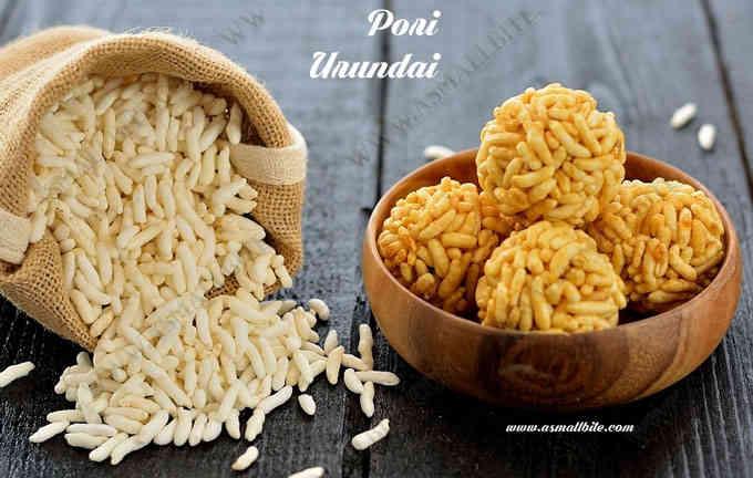 Pori Urundai Recipe | Karthigai Pori Urundai
