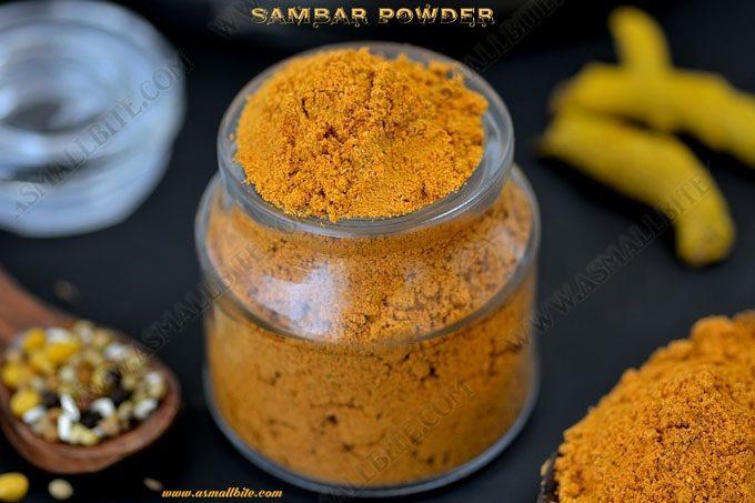 Sambar Powder Recipe | Homemade Sambar Powder