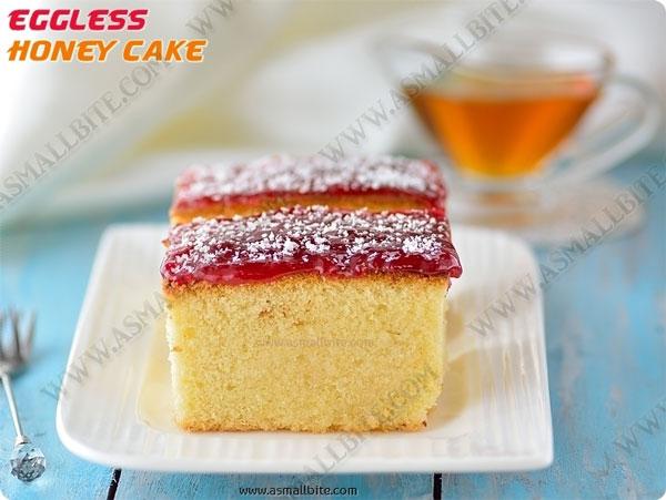 Eggless Jam Sponge Cake Recipe