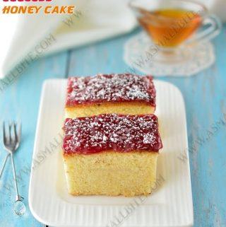 Eggless Honey Cake Recipe