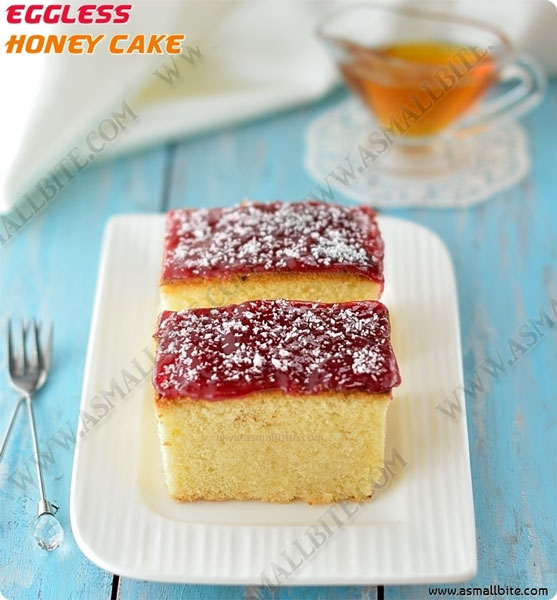 Eggless Honey Cake Recipe | Indian Bakery Style