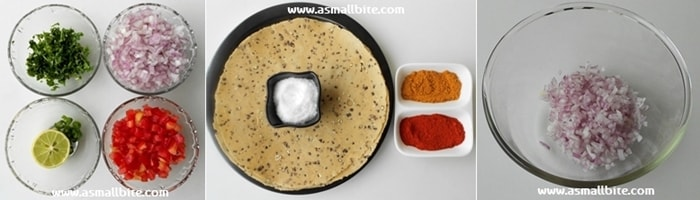 Masala Papad Steps1