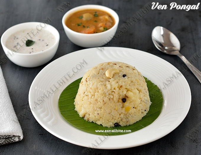 Ven Pongal Recipe | Khara Pongal Recipe