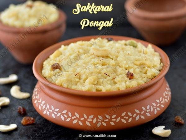 Sakkarai Pongal Recipe 1